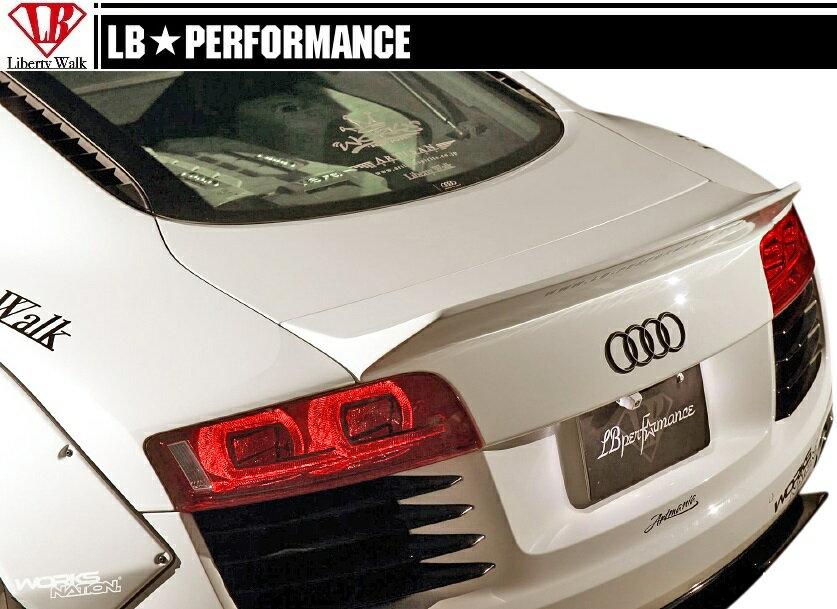 【M's】 アウディ R8 LB エアロ リア ウイング // リヤ R ウィング / トランク スポイラー / LB パフォーマンス / WORKS / PERFORMANCE / AUDI R8 V8 Body kit FRP リバティウォーク