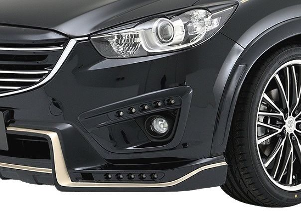 【M's】マツダ CX-5 前期 フォグ ランプ カバー LED 付 / ROWEN / ロエン エアロ // SV PREMIUM Edition MAZDA CX5 LDA DBA KE# / 1Z001D00