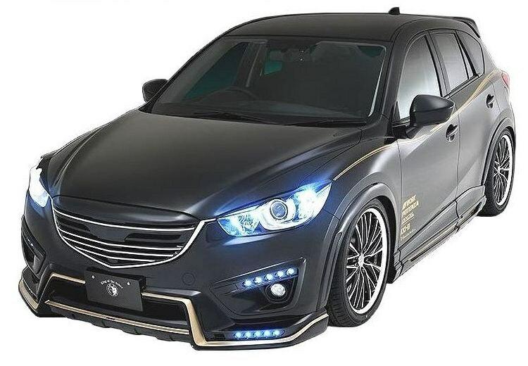 【M's】マツダ CX-5 前期(H24.2-H27.1) フル エアロ 4点 セット LED スポット付 / ROWEN / ロエン // フロント & リア ハーフ スポイラー / サイド パネル / グリル / SV PREMIUM Edition STYLE KIT C / MAZDA CX5 1Z001X01 / LDA DBA KE 2 5 E AW FW