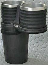 【M's】トヨタ プリウス 50系(2015y-)ALCABO ドリンクホルダー(ブラック+リング カップタイプ)//アルカボ アルミリング カップホルダー 新型 TOYOTA PRIUS プリウス50 AL-T107BS ALT107BS