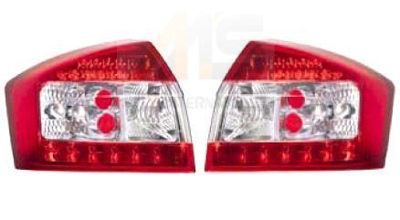 【M's】AUDI アウディA4 8E/B6(セダン/02y-04y)LEDテールレンズ2P タイプ-5(レッド×クリアー/210494)新品 ZONE Racing製 ゾーンレーシング製