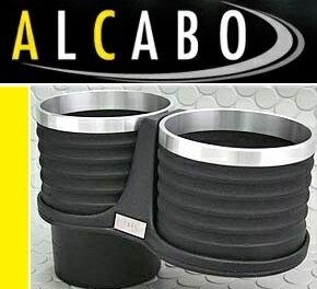 【M's】アルファロメオ ジュリエッタ(2011y-)ALCABO ドリンクホルダー(ブラック+アルミリング)//ツインタイプ Alfa Romeo Giulietta アルカボ AL-B108BS ALB108BS 新品