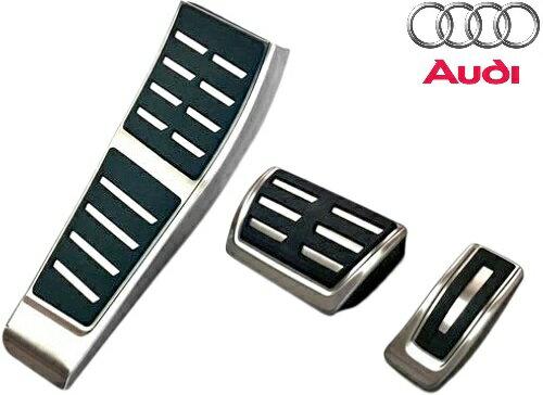 【M's】アウディ A6 A7 4G(2011y-)純正品 S-Tronic用 ペダル&フットレストセット(右ハンドル用)//AUDI Sトロニック ペダルセット ペダル アクセル ブレーキ フットレスト 411040