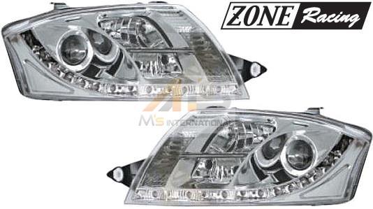 【M's】アウディ TT(8N)ZONE RACING製 デーライトルックLED プロジェクター キセノン ヘッドライト 6000k(タイプ-2)//社外品 キセノンライト AUDI HID ゾーンレーシング 291389