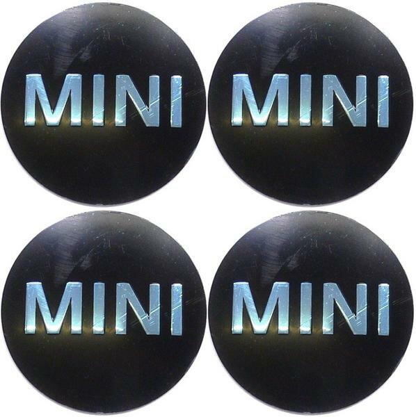 【M's】BMW MINI ミニ(全モデル)純正品 ホイールセンターキャップ【MINI】ステッカー(1台分/4枚)新品