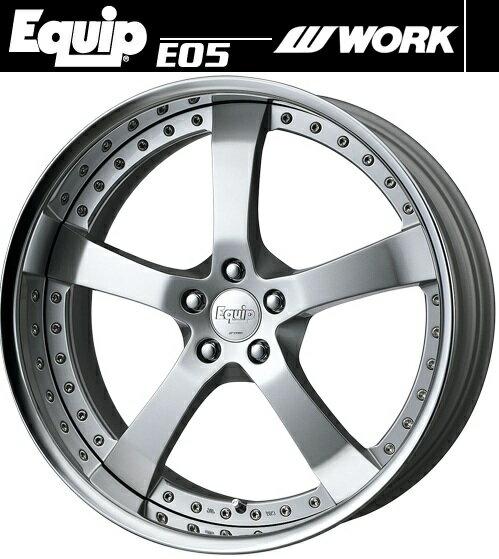 【M's】WORK Equip E05 ホイール 19インチ 10.5j ファインハイトシルバー2(FS2) 1本// ワーク エクイップ 鍛造 3ピース 新品