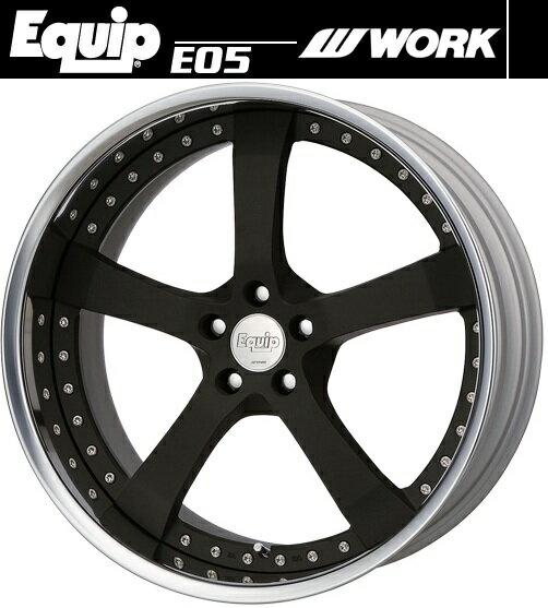 【M's】WORK Equip E05 ホイール 19インチ 10.5j ブラックアルマイト(SKA/B) 1本// ワーク エクイップ 鍛造 3ピース 新品 マット ブラック 黒