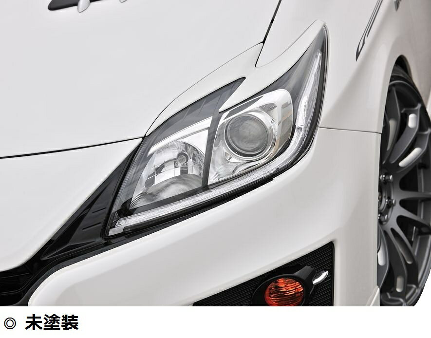 【M's】プリウス 30 後期 アイライン ABS製 未塗装 / トヨタ TOYOTA PRIUS / ヘッドライト ガーニッシュ