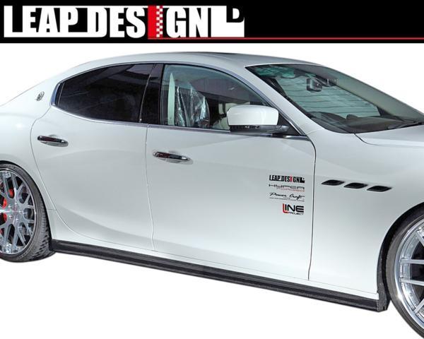 【M's】MASERATI GHIBLI サイド スカート 左右 / LEAP DESIGN / リープ デザイン エアロ //マセラティ ギブリ / スポイラー ステップ カーボン 3.0 S Q4 4WD