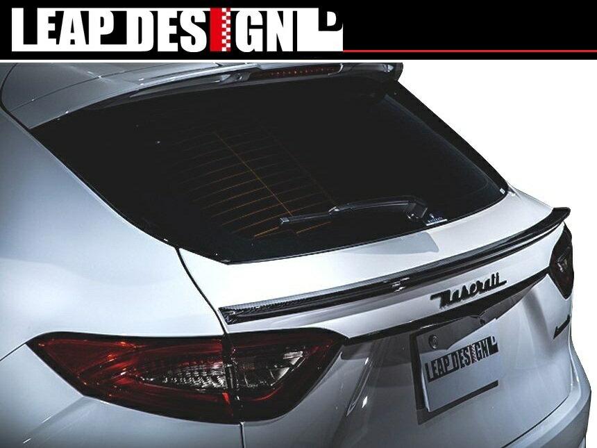 【M's】マセラティ レヴァンテ トランク スポイラー カーボン / LEAP DESIGN/リープ デザイン エアロ / MASERATI LEVANTE TRUNK SPOILER carbon