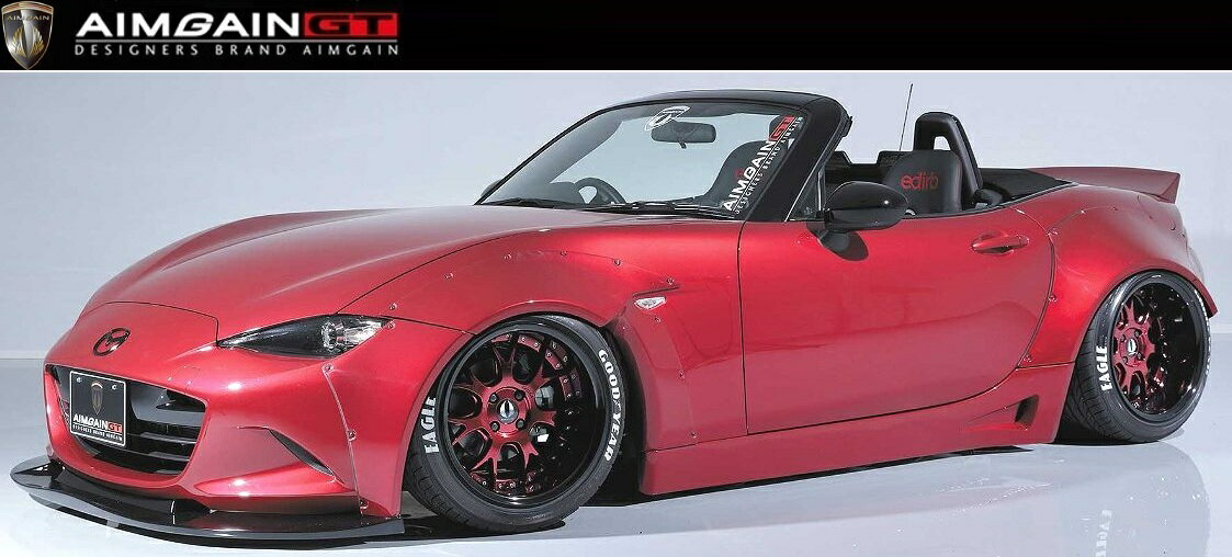 【M's】 マツダ ND ロードスター ワイド ボディキット エアロ 5点セット/AIMGAIN GT/エイムゲイン//フロント & リア アンダー スポイラー/サイドステップ/オーバー フェンダー/MAZDA ND5RC ROADSTER MX-5/Perfect Body Kit