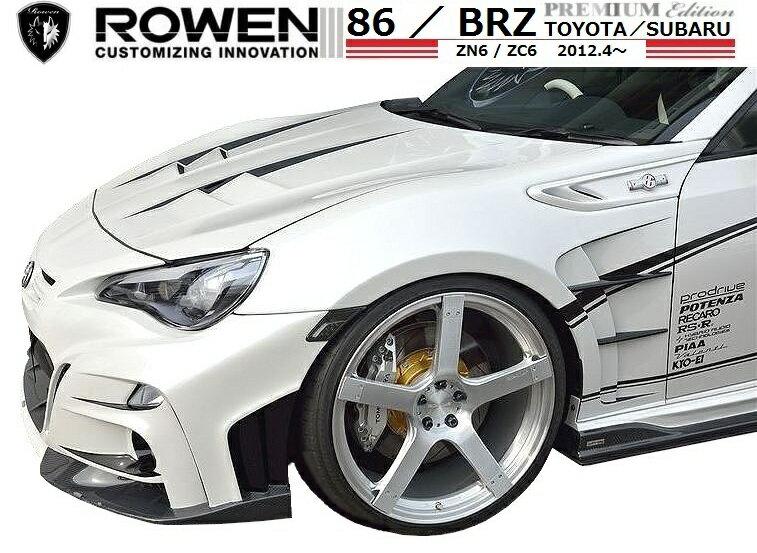【M's】 86 / BRZ(H24.4-)RR フロント フェンダー / ROWEN/ロエン エアロ // トヨタ TOYOTA DBA-ZN6/スバル SUBARU DBA-ZC6 / 1T009F00 / 2.0 G/GT/S/R / ダクト付 FRP 未塗装 新品