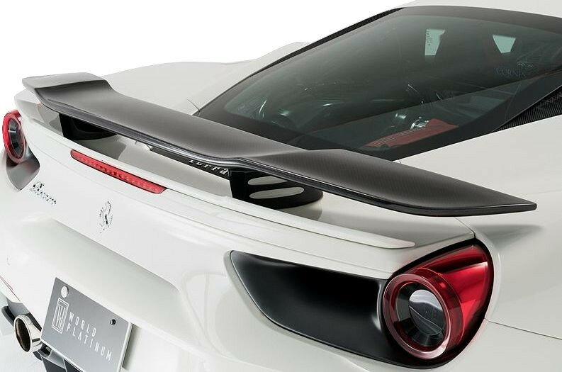 【M's】Ferrari 488 GTB リア ウイング FRP / ROWEN/ロエン エアロ// WORLD PLATINUM / フェラーリ rear wing / 1F003W00