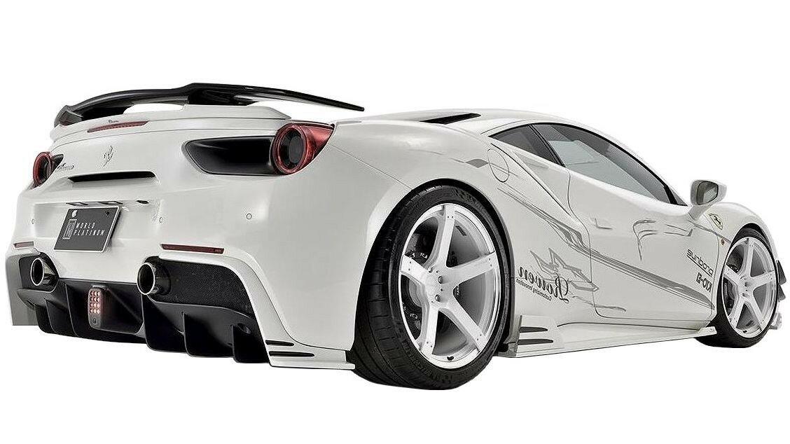 【M's】Ferrari 488 GTB トランク スポイラー FRP / ROWEN/ロエン エアロ// WORLD PLATINUM / フェラーリ trunk spoiler / 1F003T01