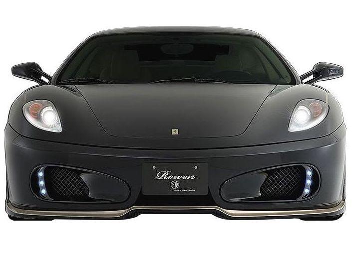 【M's】 フェラーリ F430 フロント ダクト カバー(LED付)FRP / ROWEN/ロエン エアロ // FRONT DUCT COVER 1F001D00 / Ferrari F430 F430S 4.3 F1 COUPE SPIDER