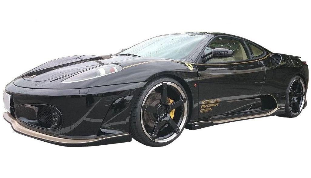 【M's】 フェラーリ F430 サイド ステップ FRP / ROWEN/ロエン エアロ // スポイラー スカート / SIDE STEP 1F001J00 / Ferrari F430 F430S 4.3 F1 COUPE SPIDER