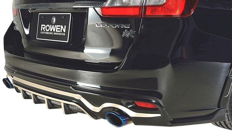 【M's】 スバル レヴォーグ リア アンダー スポイラー / ROWEN / ロウェン エアロ // PREMIUM Edition / SUBARU LEVORG 1S005P00 / VM4 VMG 1.6 2.0 GT GT-S / リヤ R ハーフ スカート