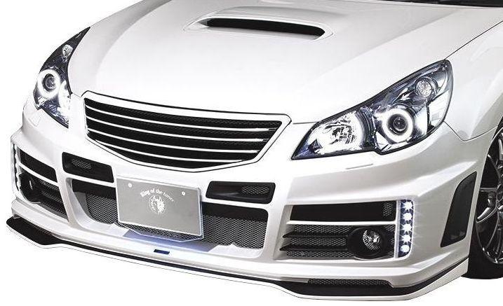 【M's】レガシィ A-C型 B4・ツーリングワゴン 共通 フロント バンパー LED付 / ROWEN/ロエン エアロ // PREMIUM Edition 1S001A20 スバル SUBARU LAGACY BM9 BR9