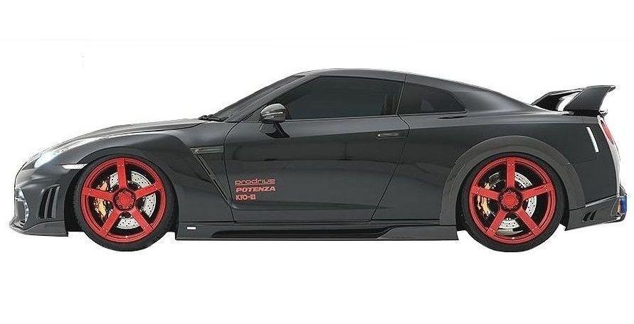 【M's】日産 R35 GT-R 前期・中期 サイド ステップ / ROWEN / ロエン エアロ // WORLD PLATINUM / NISSAN GTR 1N001J00 ニッサン / スポイラー スカート