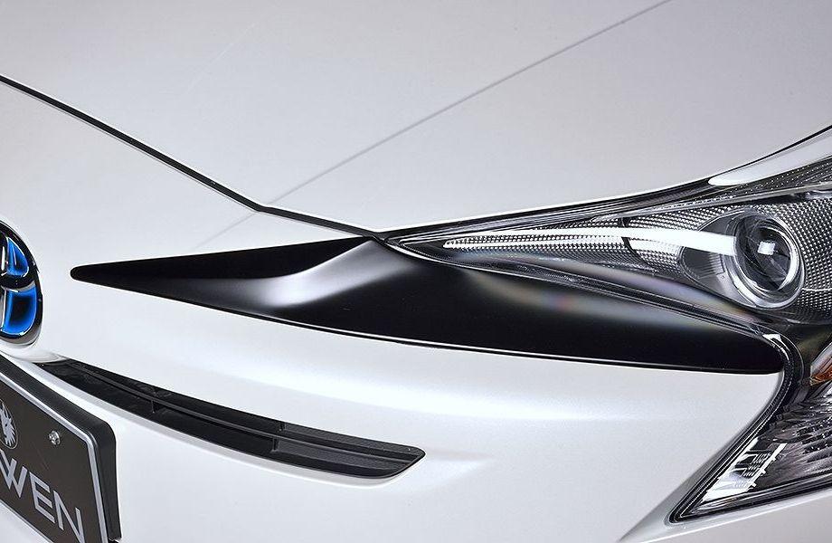 【M's】プリウス 50 系 フロント フェイス エクステンション / ROWEN / ロエン エアロ // ECO-SPO Edition / 新型 TOYOTA PRIUS ZVW 5# 1T022D00 トヨタ / バンパー ノーズ ガーニッシュ