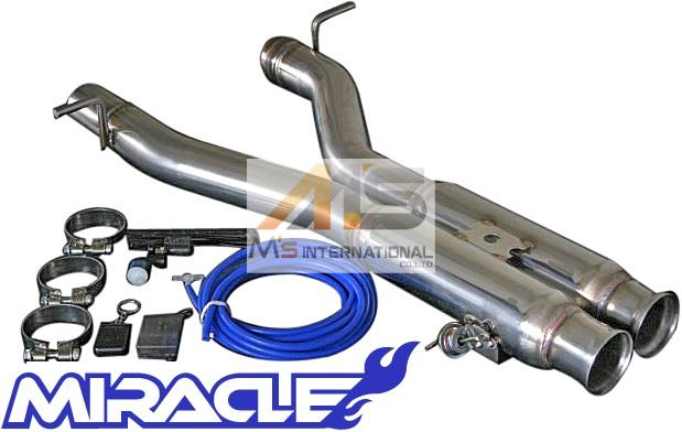 【M's】W204 AMG Cクラス C63(V8)MIRACLE 可変センターマフラー//1914 C215 CL215 ミラクル オールステンレス 可変センターパイプ 可変マフラー エキゾースト 日本製 新品
