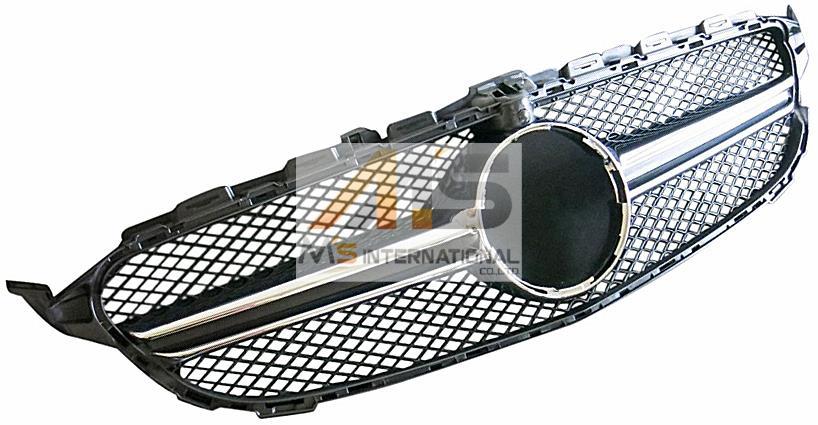 【M's】W205 ベンツ AMG Cクラス(14y-)C63 スタイルグリル ブラック//社外品 ラジエーターグリル フロントグリル S205 C180 C200 C220 C250 C350 C43 C63 3855