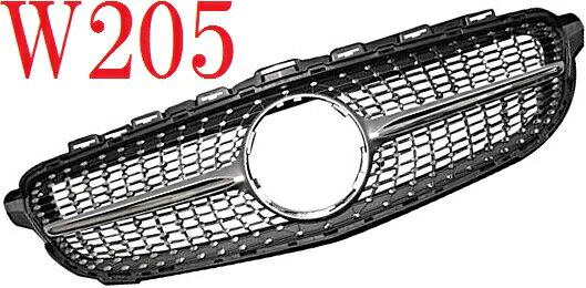 【M's】W205 ベンツ Cクラス(2014y-)AVG用 ダイヤモンドグリル//社外品 アバンギャルド ダイヤモンド グリル ダイアモンド フロントグリル S205 C180 C200 C220d C250 C350 4010