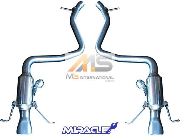 【M's】W222 AMG Sクラス S63 S65(V8/V12)MIRACLE製 可変リアマフラー//ステンレス ミラクル S222 3415 リモコン付 可変マフラー 新品