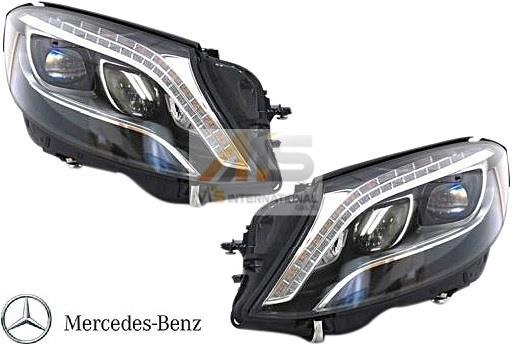 【M's】W222 ベンツ AMG Sクラス(2013y-)純正品 LEDヘッドライト 左右(ナイトビュー無車用)//S300 S400 S550 S600 S63 S65 222-820-7561 222-820-7661 2228207561 2228207661