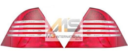 【M's】W220 ベンツ AMG Sクラス 前期(98y-02y)SPARK/DEPO製 後期(03y-)ルック テールライトレンズ 左右//社外品 スパーク デポ テール ランプ ライト レンズ S320 S430 S500 S600L S55 S63 S65