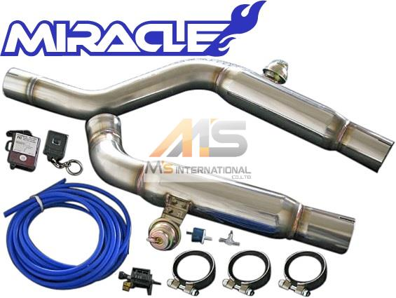 【M's】W215 AMG CLクラス CL55 Kompressor(クーペ)MIRACLE 可変センターマフラー//1914 C215 CL215 ミラクル オールステンレス V8 可変センターパイプ エキゾースト 日本製 新品