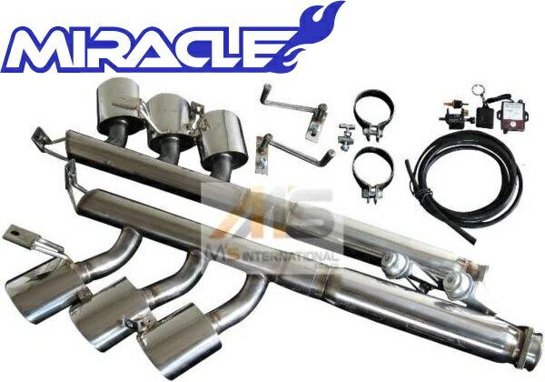 【M's】W463 AMG Gクラス G63 G55Kompressor(V8)MIRACLE 可変リアマフラー(オーバル6本出口)//3174 G463 ゲレンデ ミラクル オールステンレス 可変マフラー エキゾースト 日本製 新品