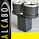 W463 ベンツ AMG Gクラス 中期(2001y-2012y)ALCABO ドリンクホルダー(ブラック+アルミリング)//ツインタイプ G463 G320 ...