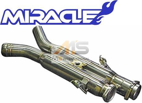 【M's】W211 AMG E63 E55 Eクラス(ワゴン)MIRACLE 可変センターマフラー//2156 S211 E211 ミラクル オールステンレス V8 可変センターパイプ エキゾースト 日本製 新品
