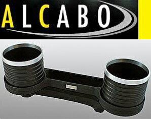 【M's】W211 Eクラス/W219 CLSクラス(灰皿対応仕様)ALCABO 高級 ドリンクホルダー(ブラック+リング)/ ベンツ AMG S211 セダン ワゴン E240 E250 E280 E300 E320 E350 E500 E550 E55 E63 C219 CLS350 CLS500 CLS550 CLS55 CLS63 アルカボ カップホルダー AL-M302BS ALM302BS