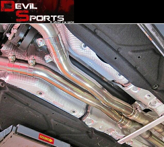 【M's】W219 AMG CLS55 CLS63(V8)DEVIL SPORTS センターマフラー//2868 C219 CLS219 デビルスポーツ エキゾースト センターパイプ ストレートセンターXパイプ 新品