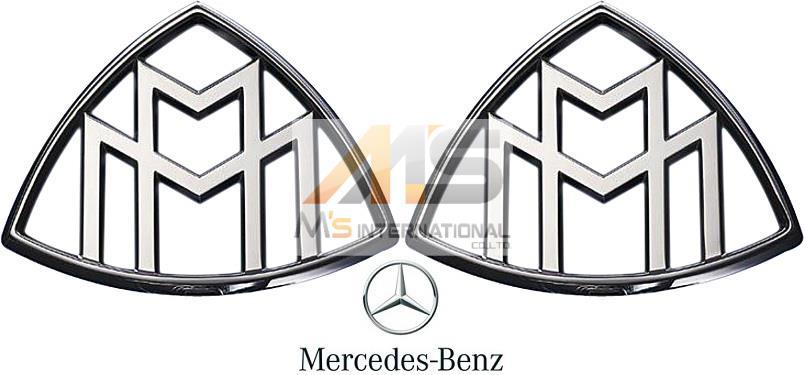 【M's】X222 メルセデス マイバッハ S550 S600(2015y-)純正品 Cピラー エンブレム 2個//W222 MERCEDES-MAYBACH ベンツ 正規品 222-817-1200 2228171200