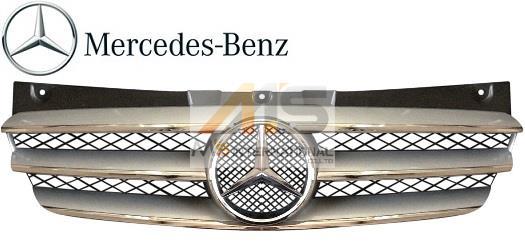 【M's】W639 ベンツ V350 Vクラス(11y-15y)純正品 後期 フロントグリル(シルバー)//正規品 ラジエターグリル トレンド アンビエンテ ロング639-880-0083-9775 63988000839775