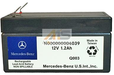 【M's】W212 W207 Eクラス/W218 CLSクラス 純正品 サブバッテリー 12V 1.2AH(ダッシュボード内配置型)//正規品 ベンツ AMG 000000004039 N000000004039