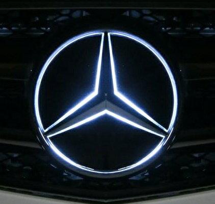 【M's】W166 Mクラス/W639 Vクラス(ビアノ)純正品 フロント スターマーク LEDエンブレム(ホワイト)//正規品 ヤナセオリジナル グリル 白 ベンツ AMG