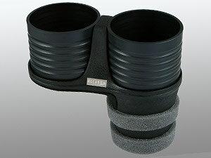 【M's】ジャガー Sタイプ 後期型(2002y-2007y)フィアット パンダ 2代目(2003y-2011y)ALCABO ドリンクホルダー ブラックカップタイプ//ツインタイプ カップホルダー アルカボ AL-B110B ALB110B 新品