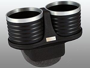 【M's】トヨタ プリウス 30系(ZVW30)ALCABO ドリンクホルダー(ブラック+リング カップタイプ)//アルカボ カップホルダー 黒 アルミ TOYOTA PRIUS プリウス30 AL-T116BS ALT116BS