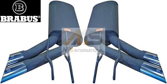 【M's】W463 ゲレンデ ベンツ Gクラス G320L G500L (ロング) (2000/12y-) BRABUS社製 スポーツエキゾーストマフラー (左右)// ベンツ GELANDE ブラバス 463-670‐20/46367020 正規品 高品質 エムズ 大人気 新品