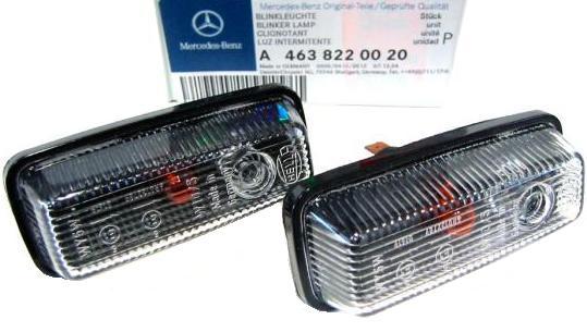 【M's】W463 ベンツ ゲレンデ Gクラス AMG G320 G320L G500 G500L G55 G55L ショート ロング 純正品 ホワイトサイドマーカー(左右)セット 4638220020 463-822-0020 新品