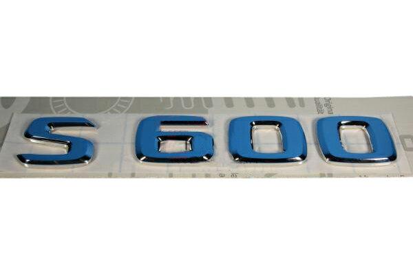 【M's】ベンツ W140 W220 W221 〜AMG Sクラス 純正品 S600 リアエンブレム(リヤエンブレム/トランクエンブレム)新品(A140-817-3515/A1408173515)