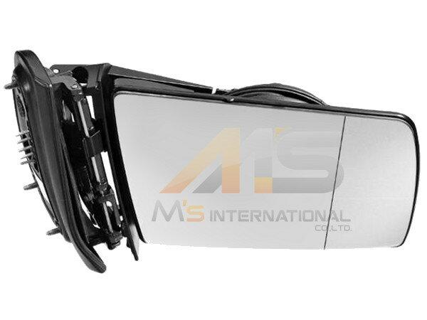 【M's】ベンツ W140 Sクラス W210 Eクラス W202 Cクラス ドアミラーフレーム 右側 (本体ASSY) 新品