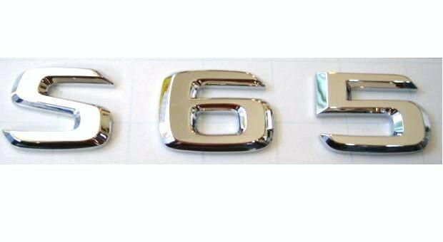 【M's】W221 ベンツ〜AMG Sクラス/純正品 S65 リアエンブレム トランクエンブレム新品