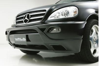 【M's】W163 ベンツ MLクラス(02y〜05y) ヴァルド WALD Executive Line フロントバンパーカバー // BENZ バルド エグゼクティブ ライン 未塗装 高品質 新品