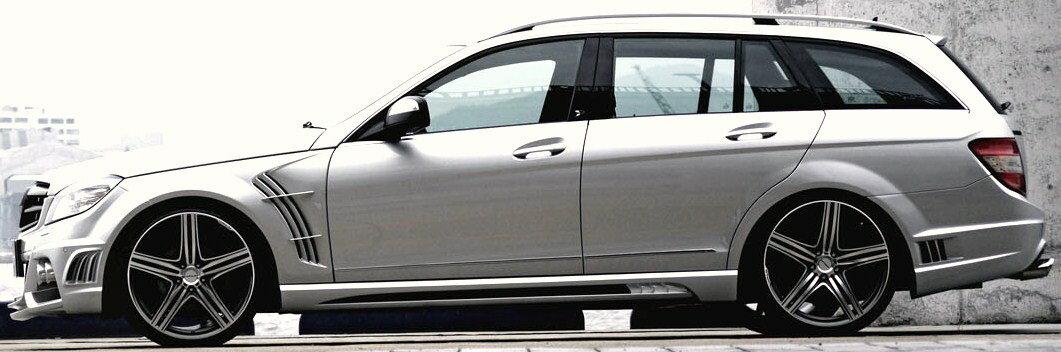 【M's】W204 ベンツ Cクラス ステーションワゴン WALD/ヴァルド Sports Line Black Bison Edition サイドステップ // BENZ バルド スポーツライン ブラックバイソン S 未塗装 FRP オーダー エアロ 受注生産 高品質 新品