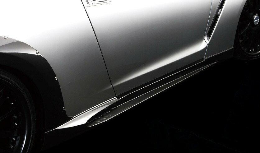 【M's】日産 ニッサン GT-R R35 WALD ヴァルド Sports Line サイドステップ // NISSAN バルド スポーツライン S 未塗装 受注生産 高品質 新品